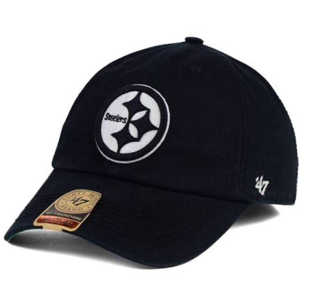 f55f00f3f Pittsburgh Steelers  47 Brand Franchise Black   White Logo L Large Fitted  Cap Ha  47Brand  PittsburghSteelers
