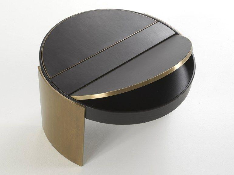 Tavolino basso rotondo ILLUSION by Borbonese Casa by Matteograssi   design Lorena DIlio, Studio MAMO