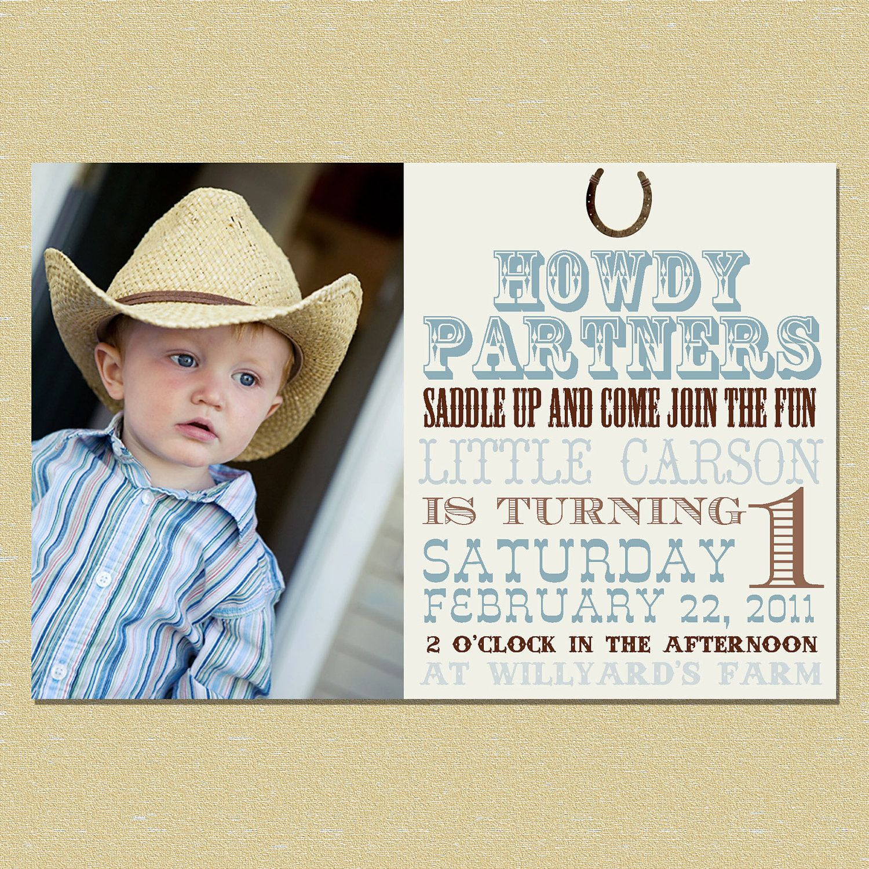 Western Birthday Invitation Boy or Girl 1000 via Etsy Eli