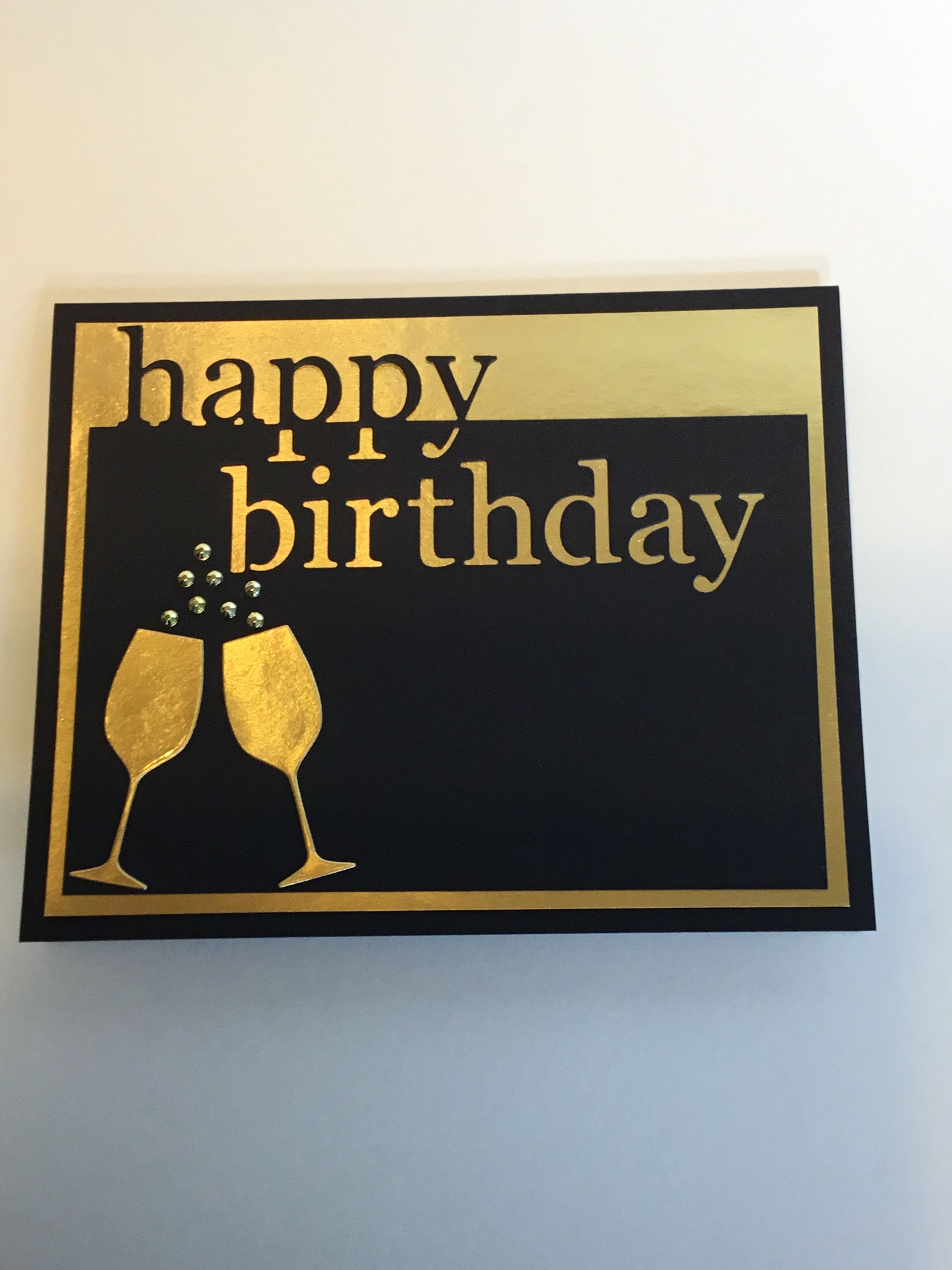 Handmade simple masculine card with memory box grand happy