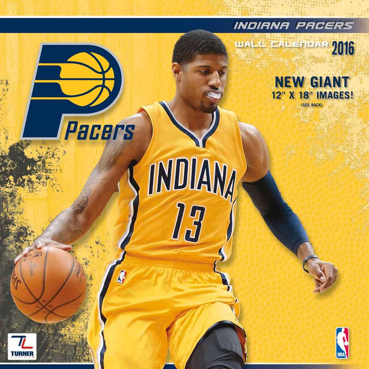 Indiana Pacers NBA Calendar 2016