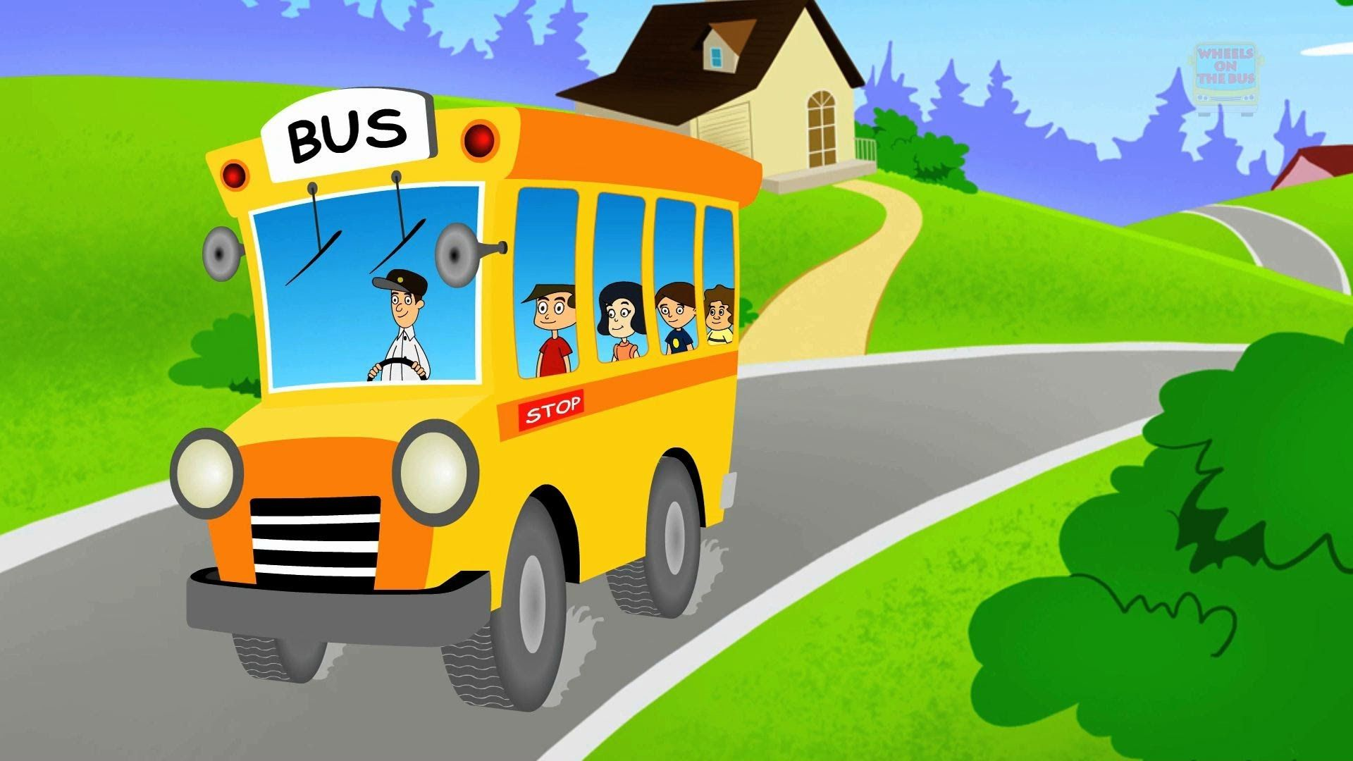 Wheels On The Bus Go Round And Round Nursery Rhymes For Children