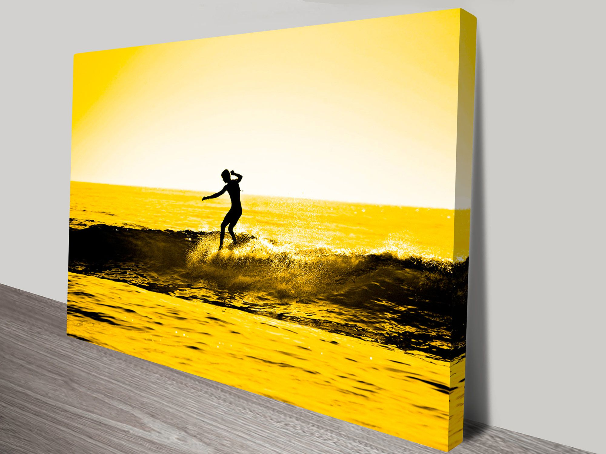 Stunning Sunset Surfing print. This wall art is made in Australia ...