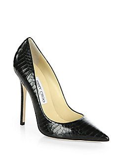 05eedc803bc Jimmy Choo - Anouk Snakeskin Pumps Shop at Saks Fifth Avenue at 150 Worth  Ave in Palm Beach FL