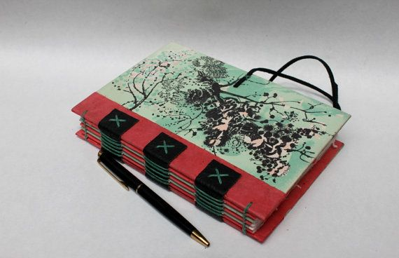 Eco Friendly Journal or Sketchbook from Recycled by WeeBindery