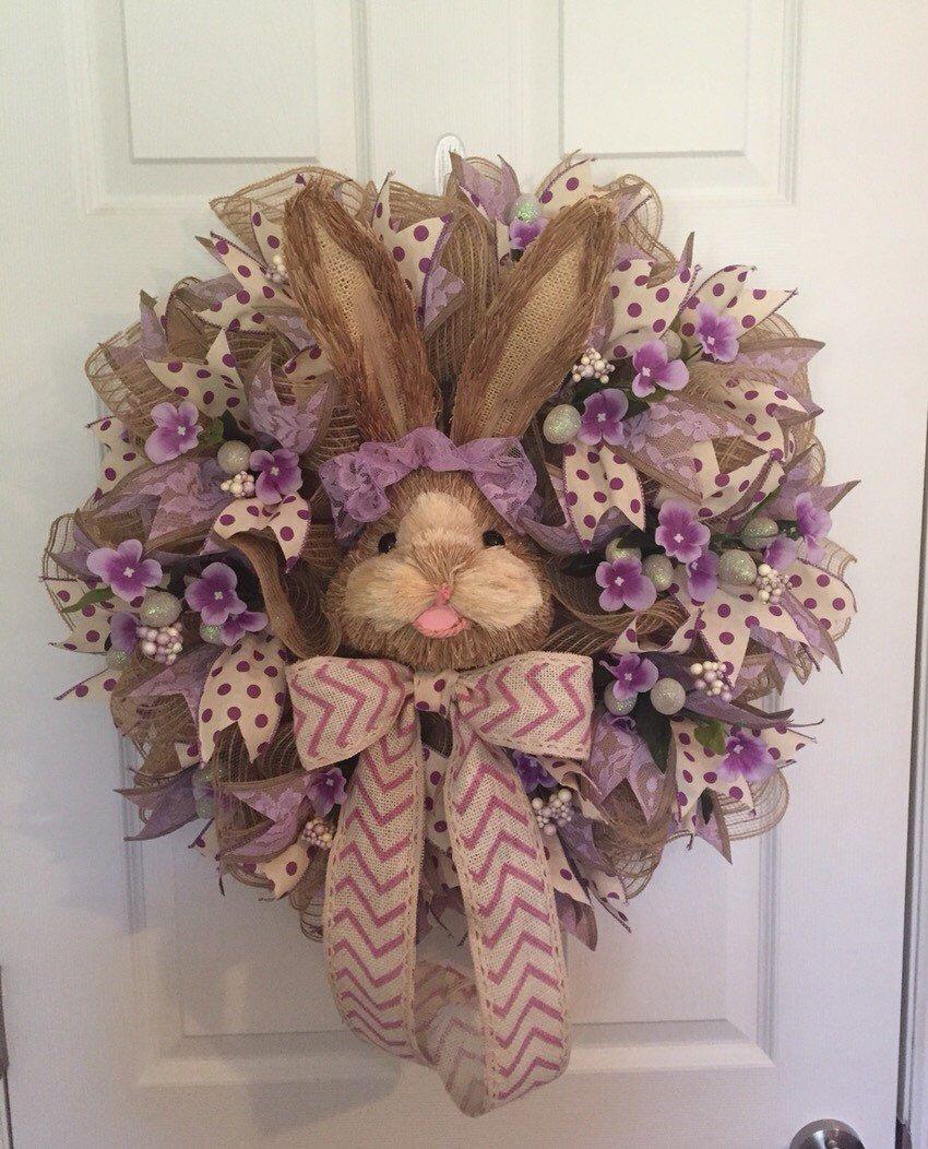 Easter Wreath, Easter Bunny Wreath, Easter Decor, Easter ...