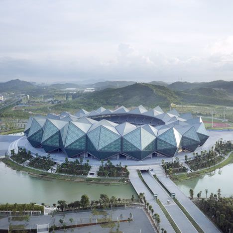 Three stadiums by GMP Architekten for the Universiade 2011 in Shenzhen.