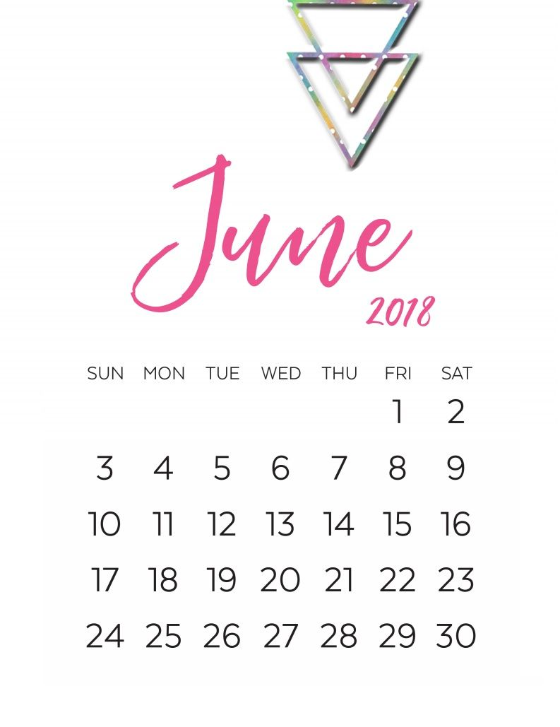 Unique June Month 2018 Calendar Designs Calendar Printables