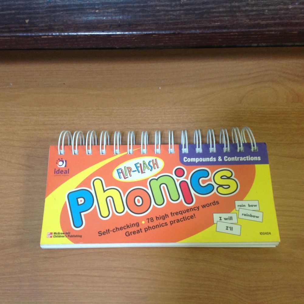 FLIP FLASH PHONICS, COMPOUNDS, CONTRACTIONS, SPIRAL BOUND