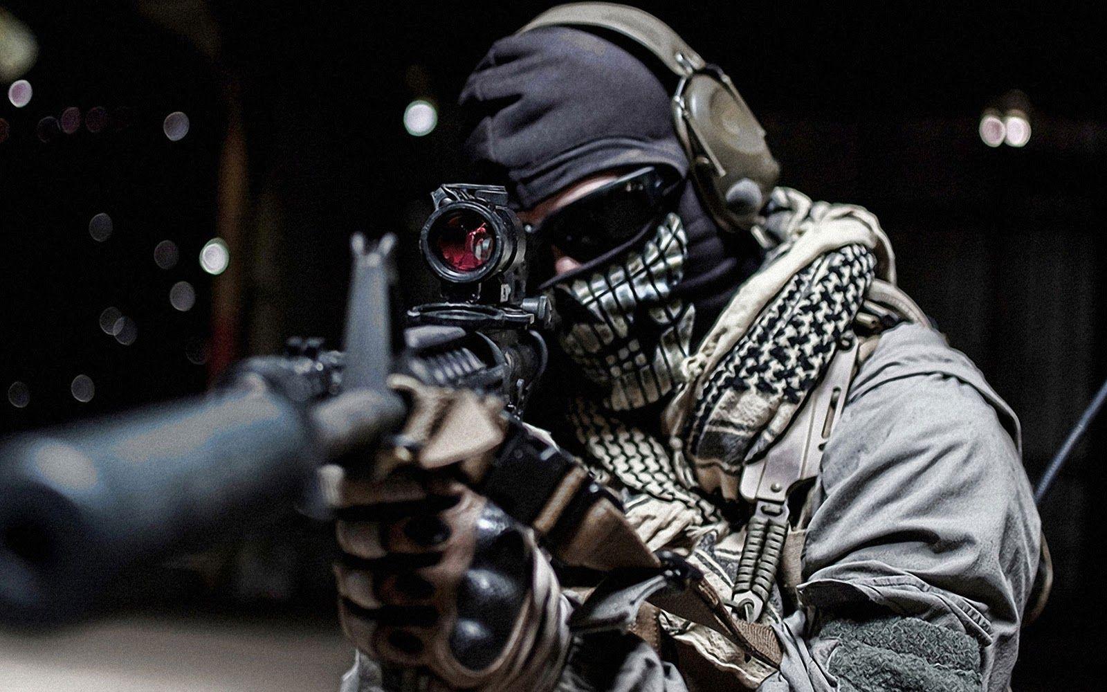 Real Life MW Ghost HD Wallpaper | modern war | Pinterest