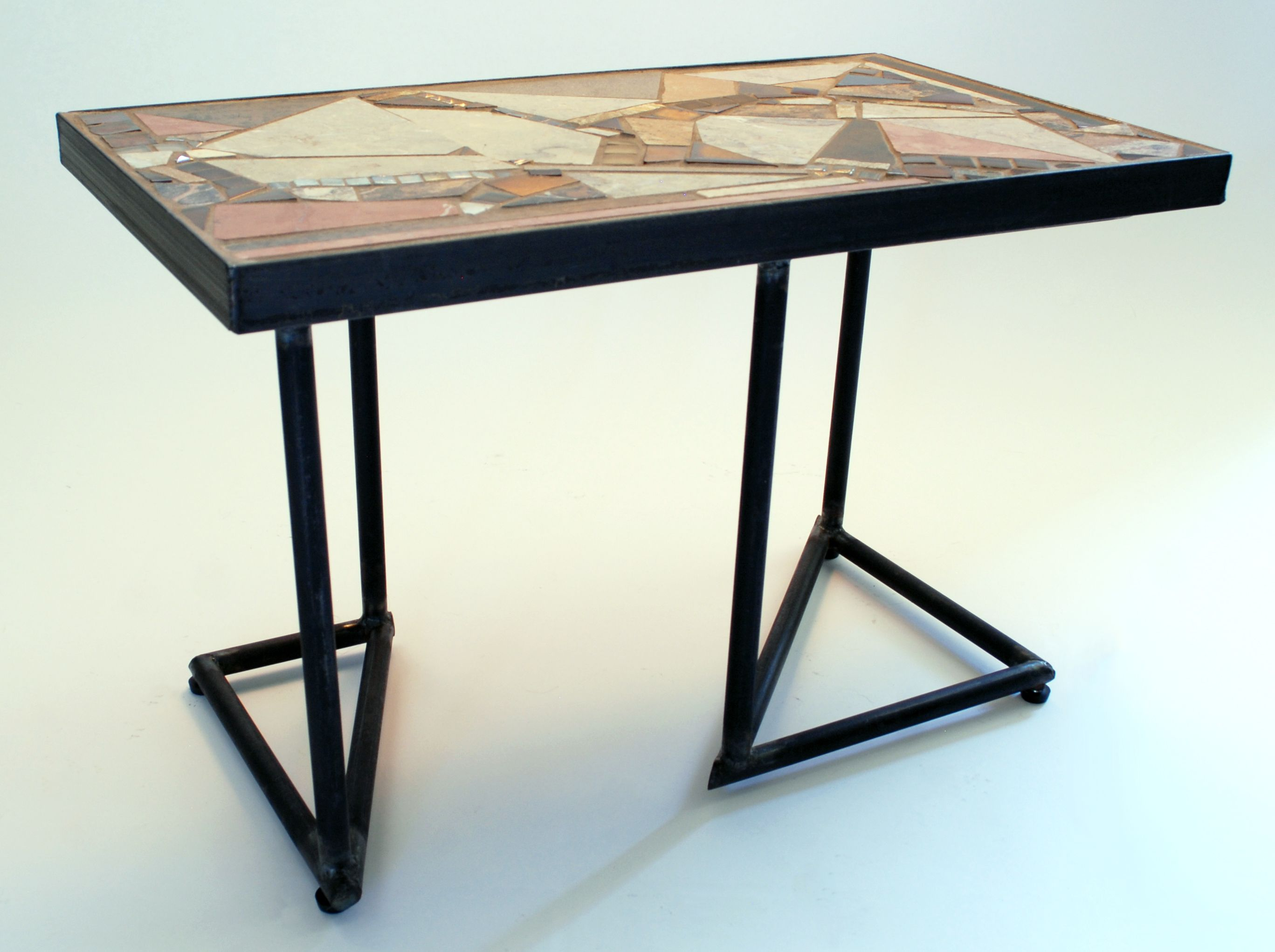 Sonora Slant Bespoke Table By Jsz Id Furniture Mosaic Furniture Bespoke Furniture [ 2044 x 2735 Pixel ]