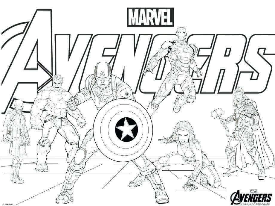 Coloring Sheets Avengers Portraits