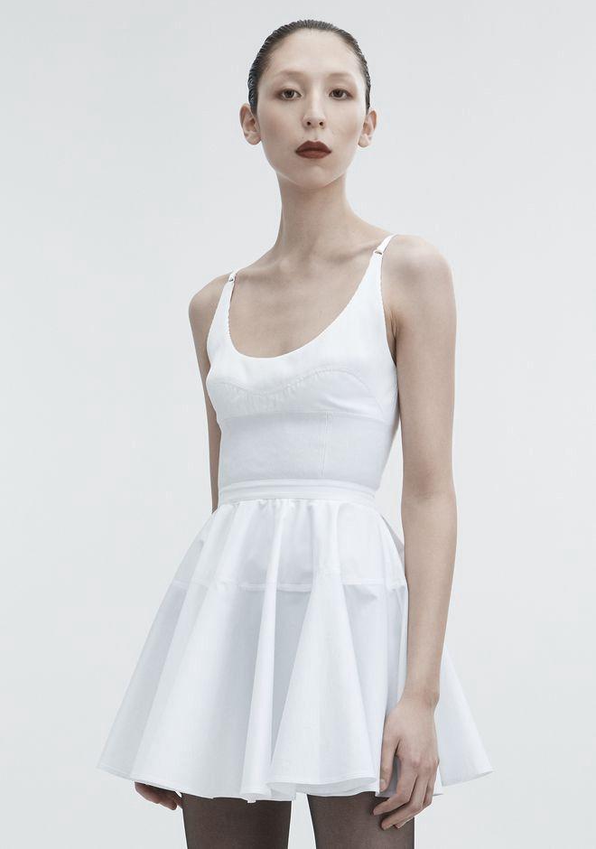 c5fc3e1d702 Alexander Wang Poplin Mini Dress - White 0