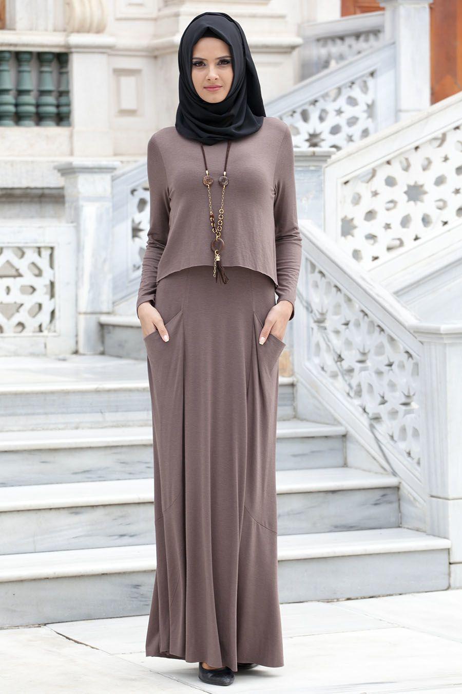 En Ozel Tesettur Penye Elbise Modelleri Moda Stilleri Elbise Elbise Modelleri