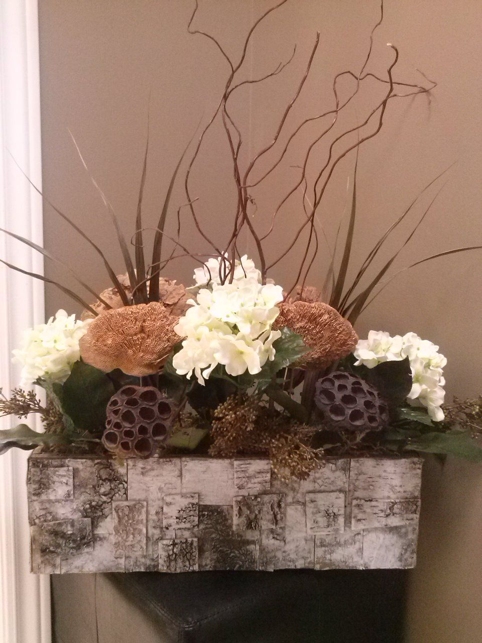 Designed By Sonya Biemann At Lemongrass In Timmins On Canada Flower Decorations Flower Arrangements Dried Flowers