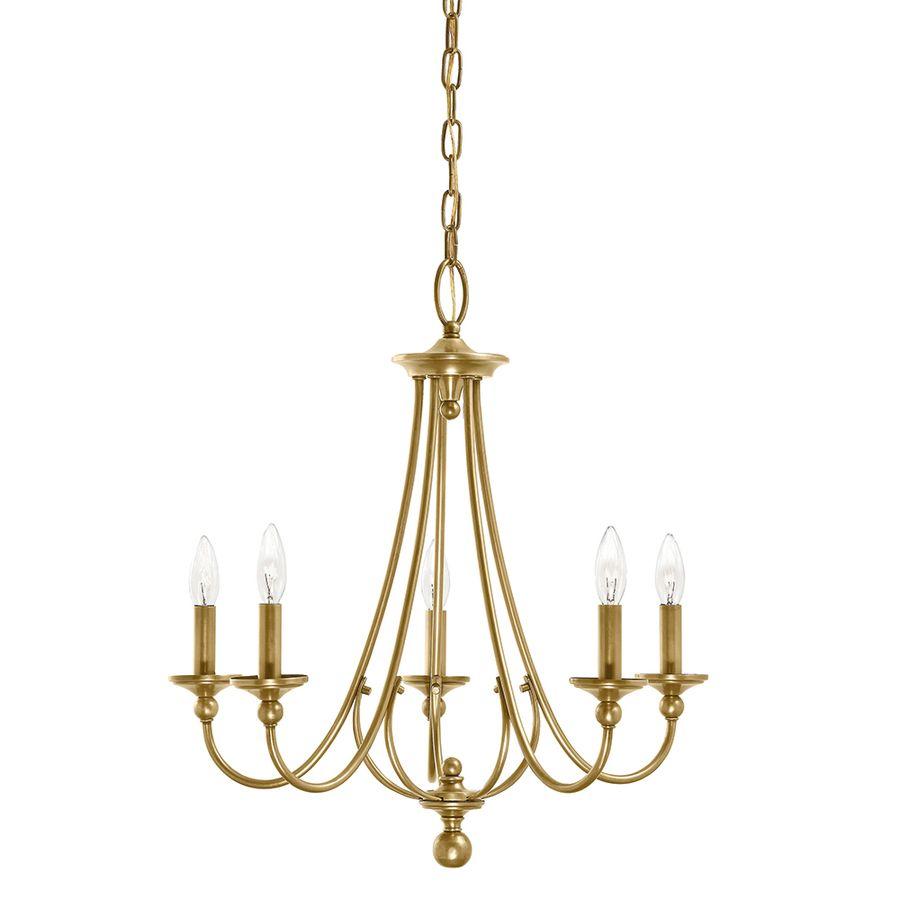 Shop kichler lighting camella 5 light natural brass chandelier at shop kichler lighting camella 5 light natural brass chandelier at lowes arubaitofo Images