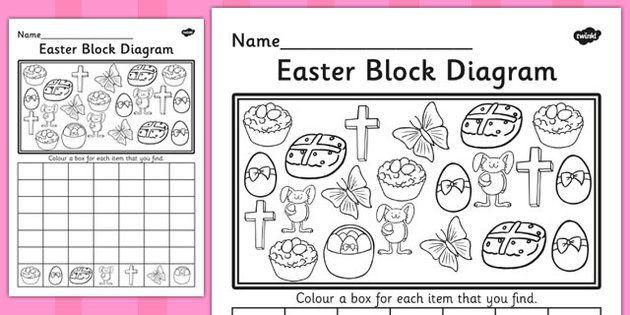 Easter Block Diagram Activity Sheet
