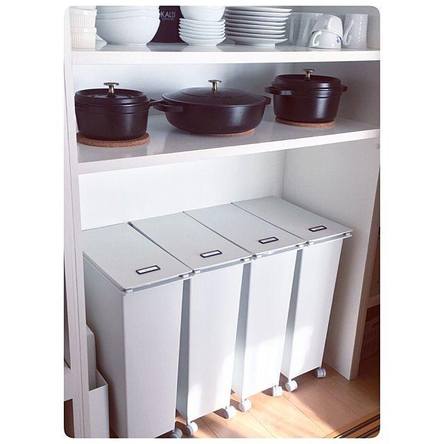 ニトリと無印良品は頼りになる 快適キッチンを創る10商品 無印 ゴミ箱 快適な生活 ニトリ