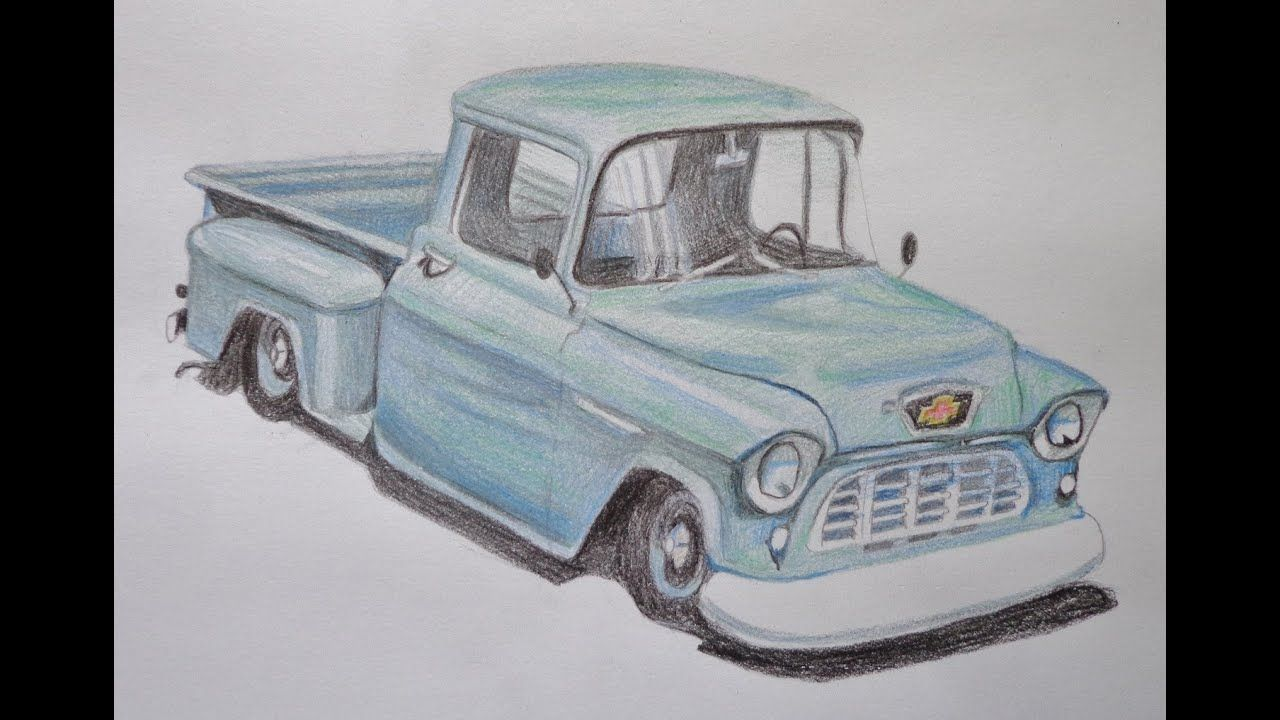 Speed drawing of a truck in 2020 Old trucks, Automotive