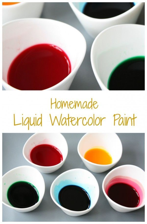 Homemade Liquid Watercolor Paint Easy Cheap And You Can Make It