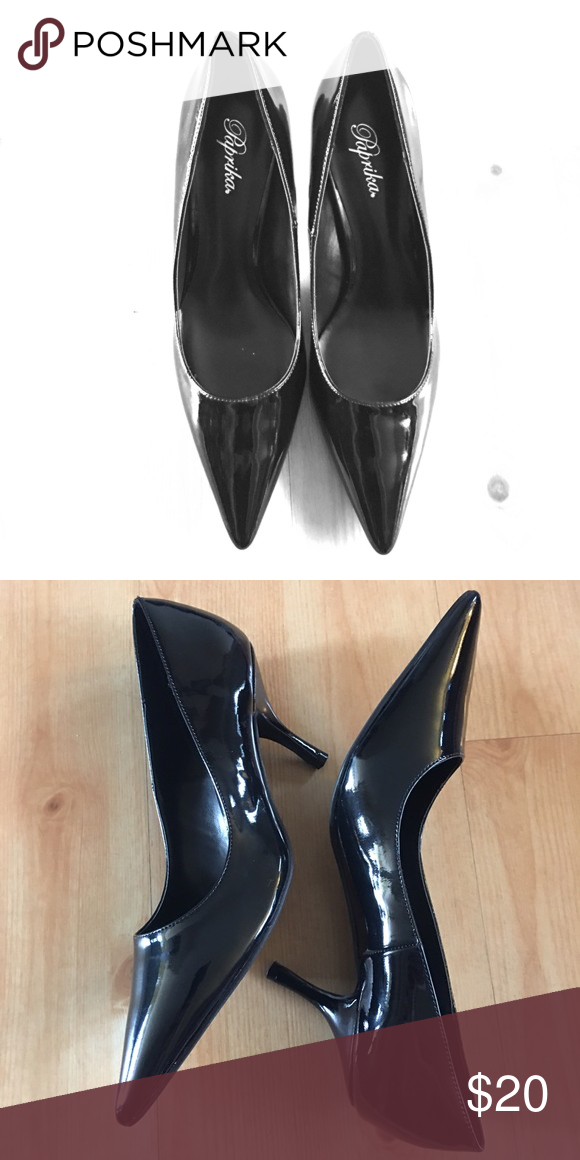 c57c36097bc Brand new low heels Brand new black shiny heels with inch heel.great for  work Paprika Shoes Heels