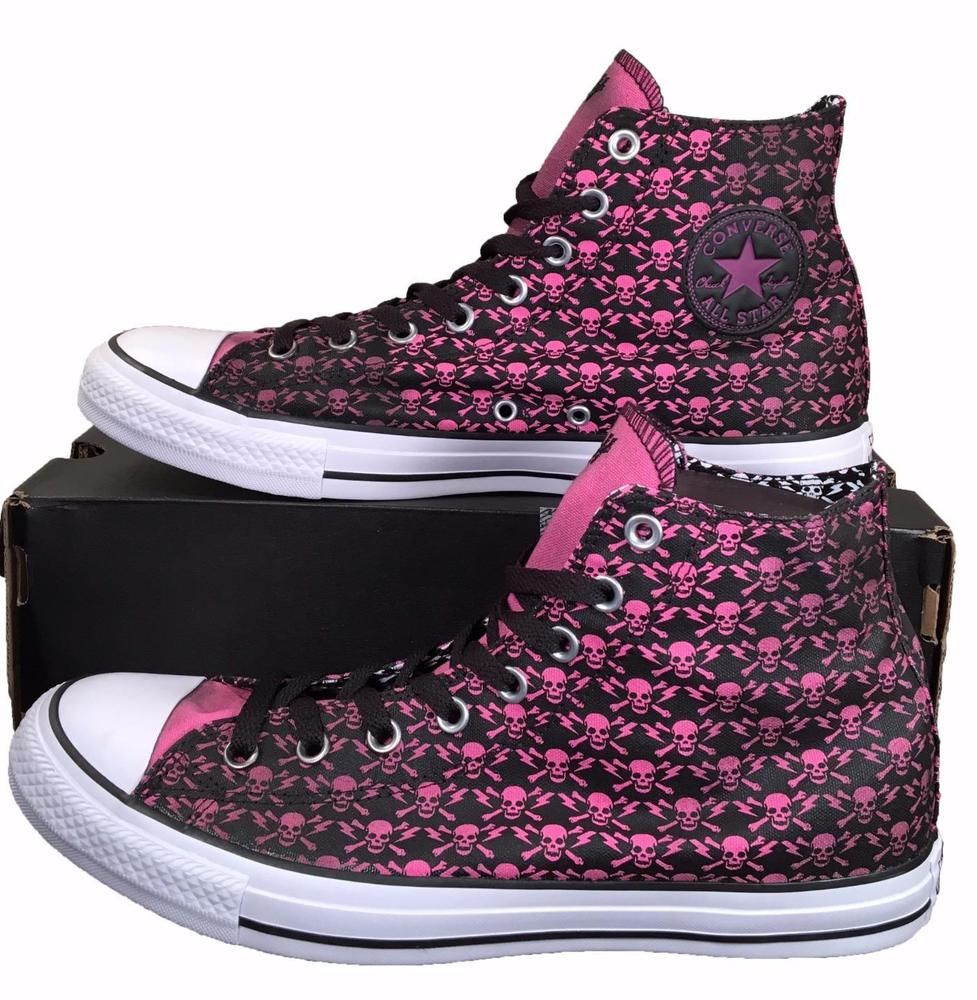 e9437452251 Converse The Clash Chuck Taylor All Star Sneakers Pink Skulls Fading  155073C  Converse  FashionSneakers