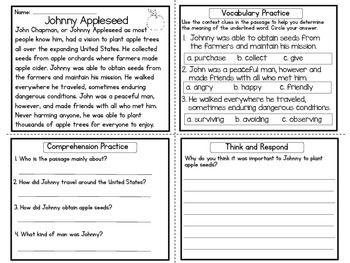 FREE Reading Comprehension Practice / Four in One / Upper ...
