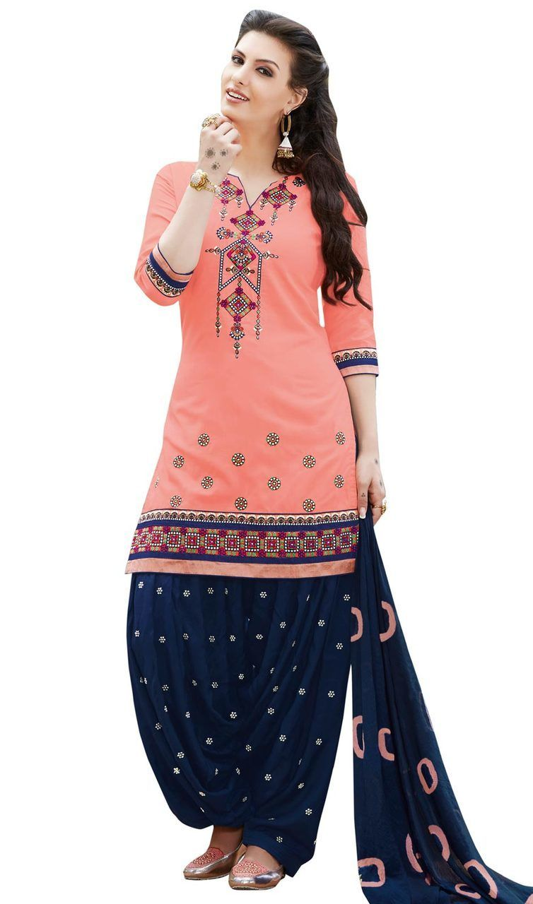 5acdd7c360 #punjabipatialasuitsonline #punjabisalwarsuit Add a adolescent burst of  shade for your wardrobe with this peach