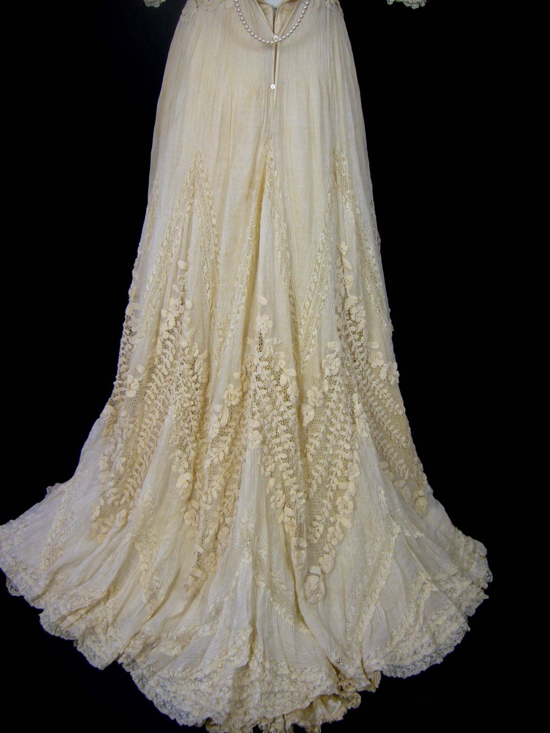 Late 1800s wedding dress