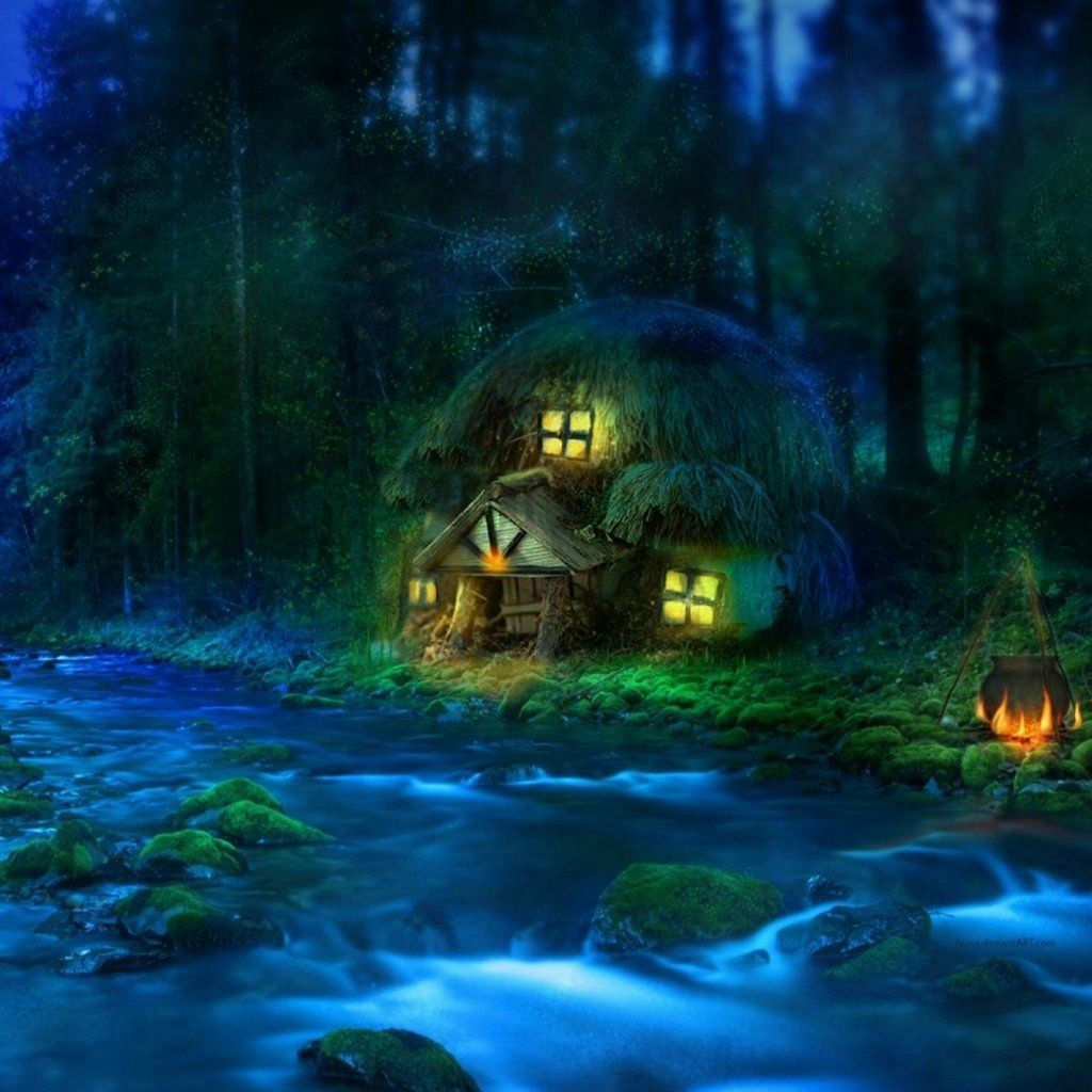 3D Fantasy Woodland IPad Wallpapers