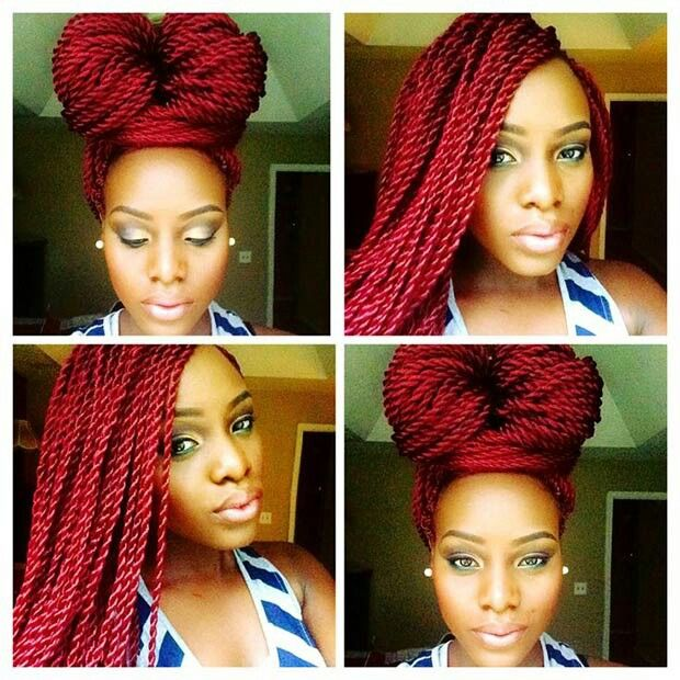 red senegal twists hair crazy