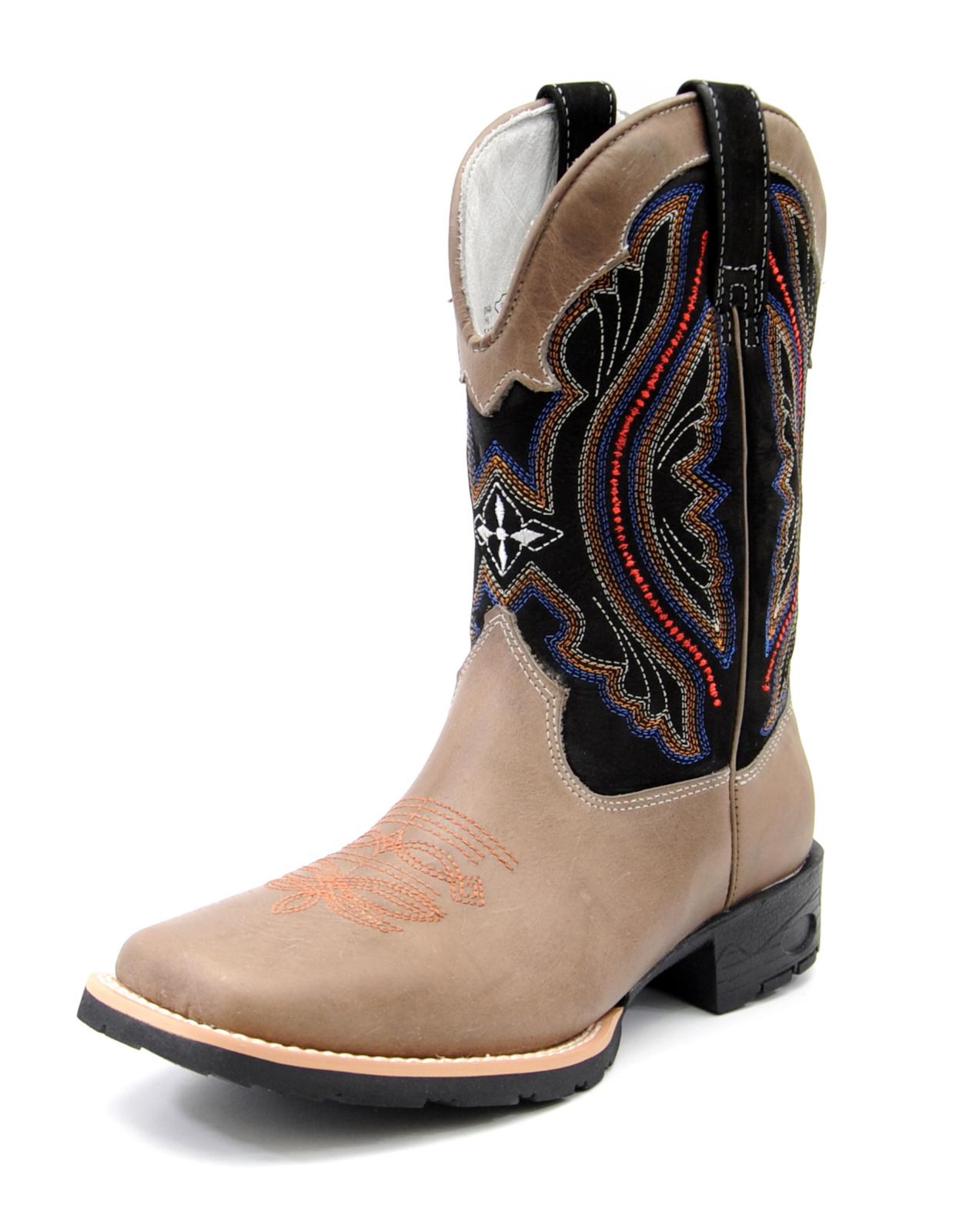 bota texana feminina cano alto bico quadrado