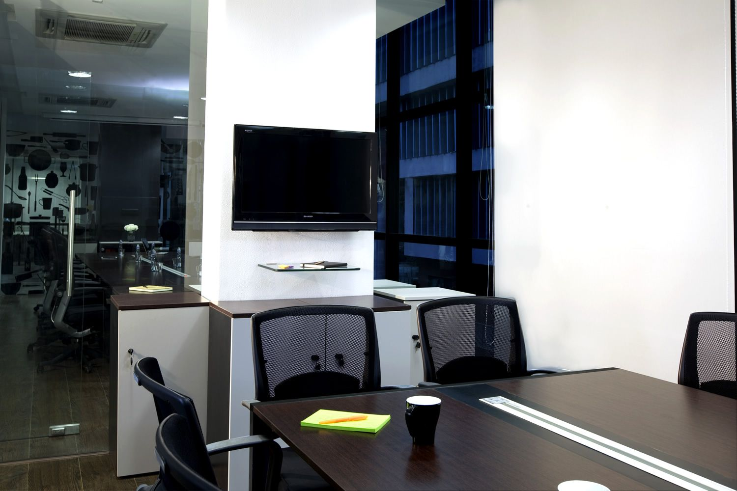 modern office interior project in mumbai by nitido design