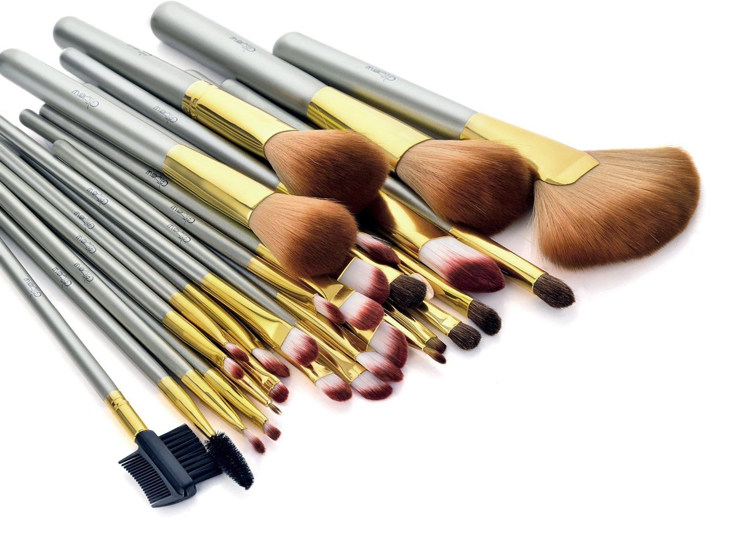 30 Brush Set in Gold Makeup supplies, Cosmetics