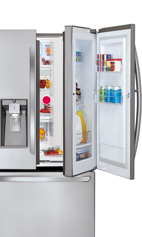 Lg Super Capacity 3 Door French Door Refrigerator With Door In