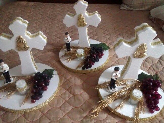 centros de mesa para primera comuni n primera comuni n first communion invitations. Black Bedroom Furniture Sets. Home Design Ideas