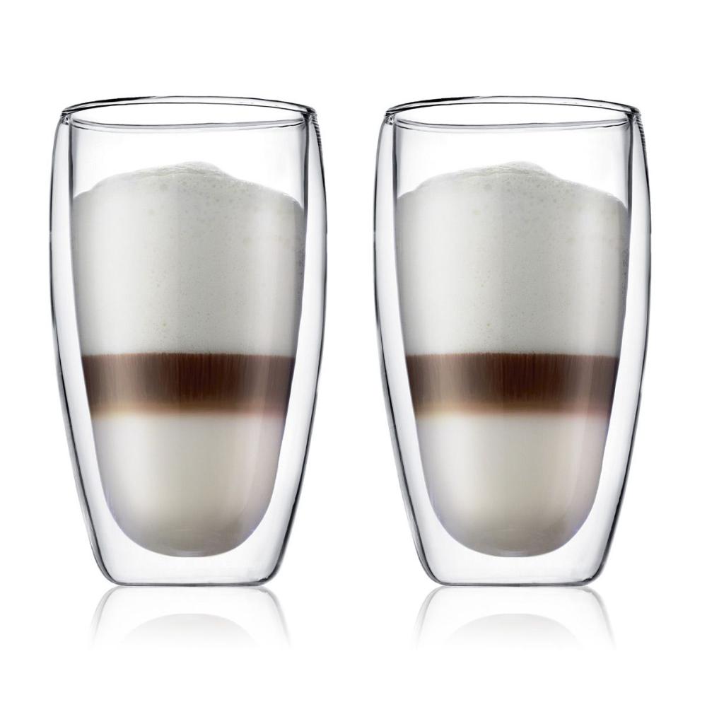 Pavina Latte Macchiato Double Wall Glass Glass Set
