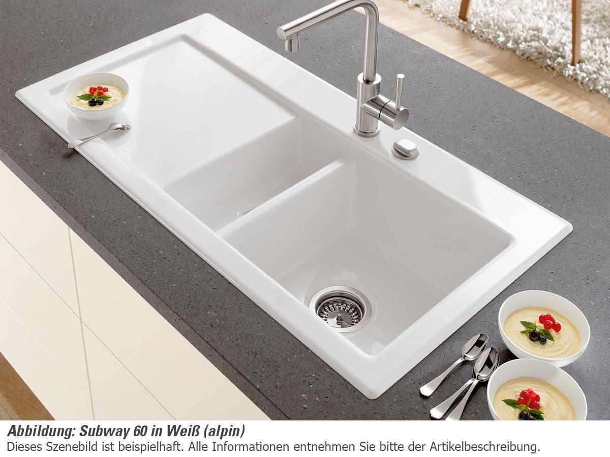 Villeroy & Boch Subway 60 Weiß (alpin) Keramik-Spüle | Küchen ...