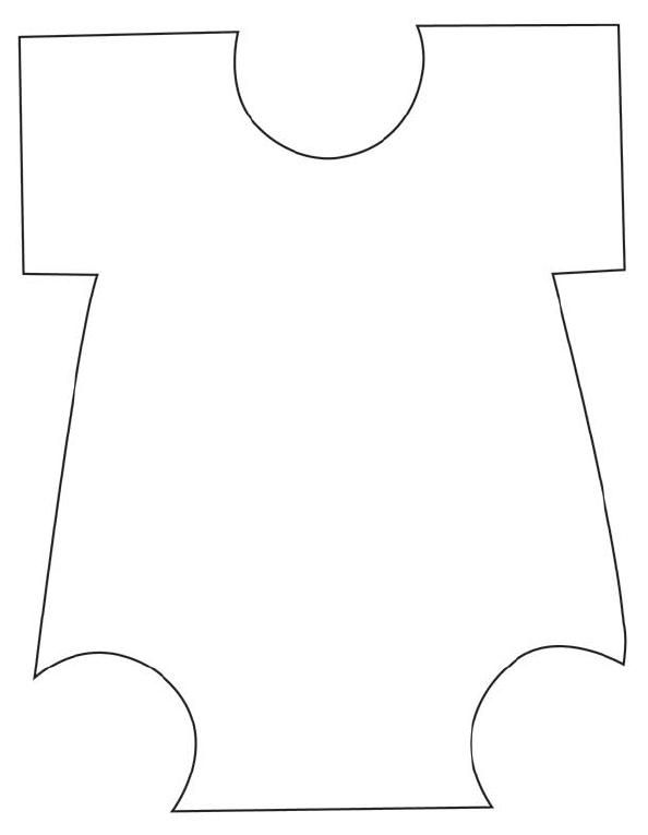FREE Printable Baby Shower Onesie Template COLLAGE  SCRAPBOOKING