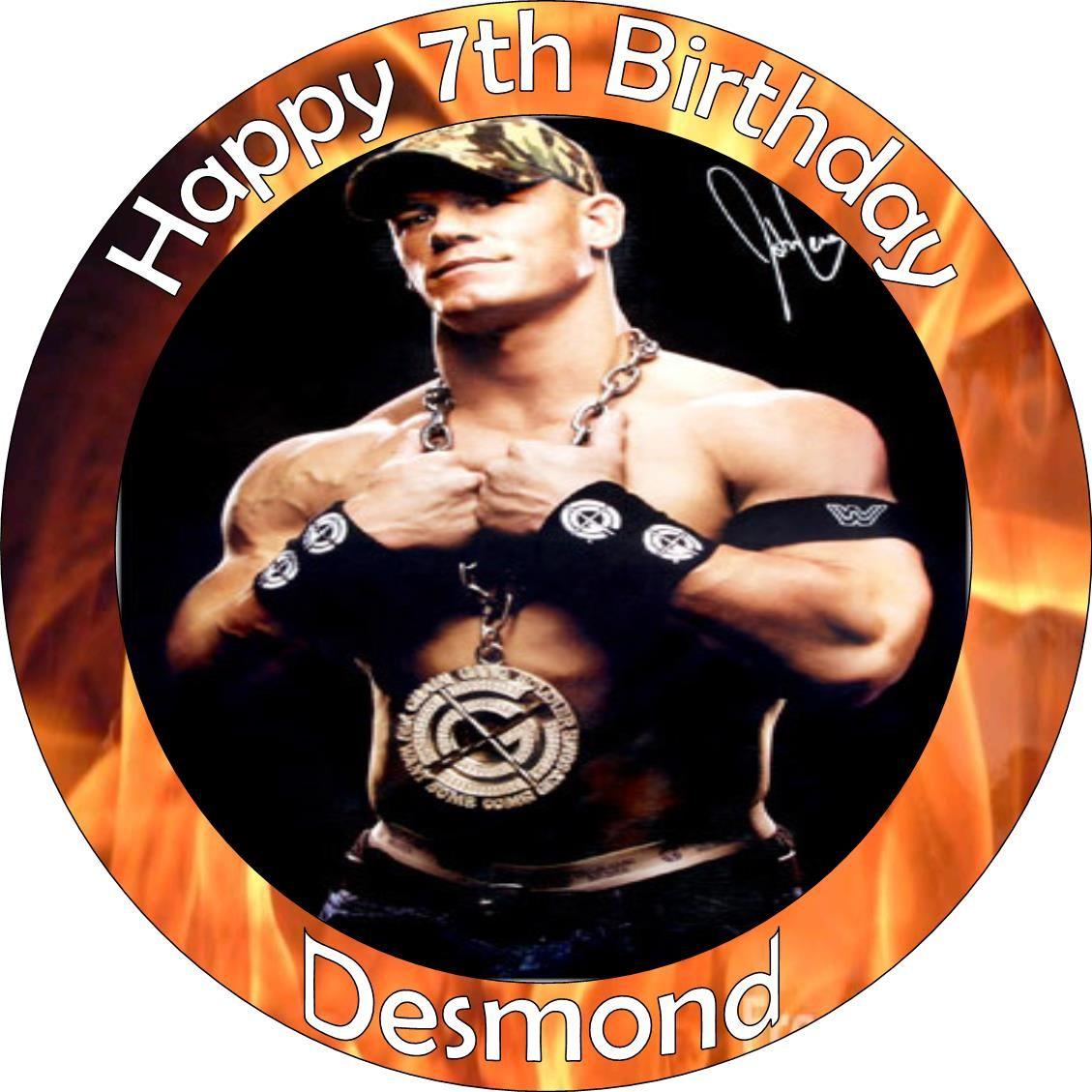 John Cena Cake Topper John Cena Cake Topper 250 Cake Topper