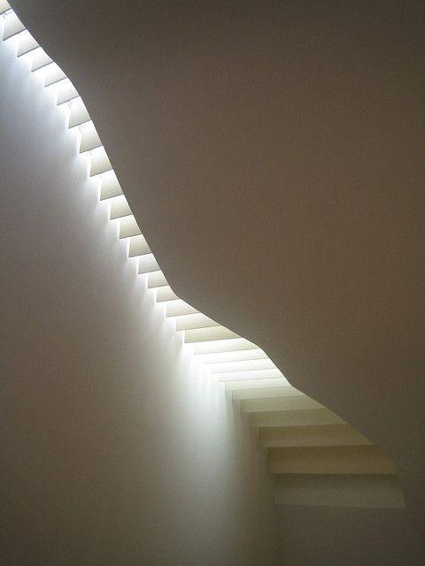 skylight in the staircase of the K20 modern art museum in Düsseldorf - photo by Arnd Dewald
