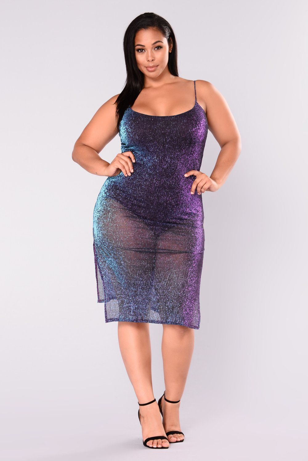 Catherine Metallic Dress - Purple Multi | Plus size | Dresses ...