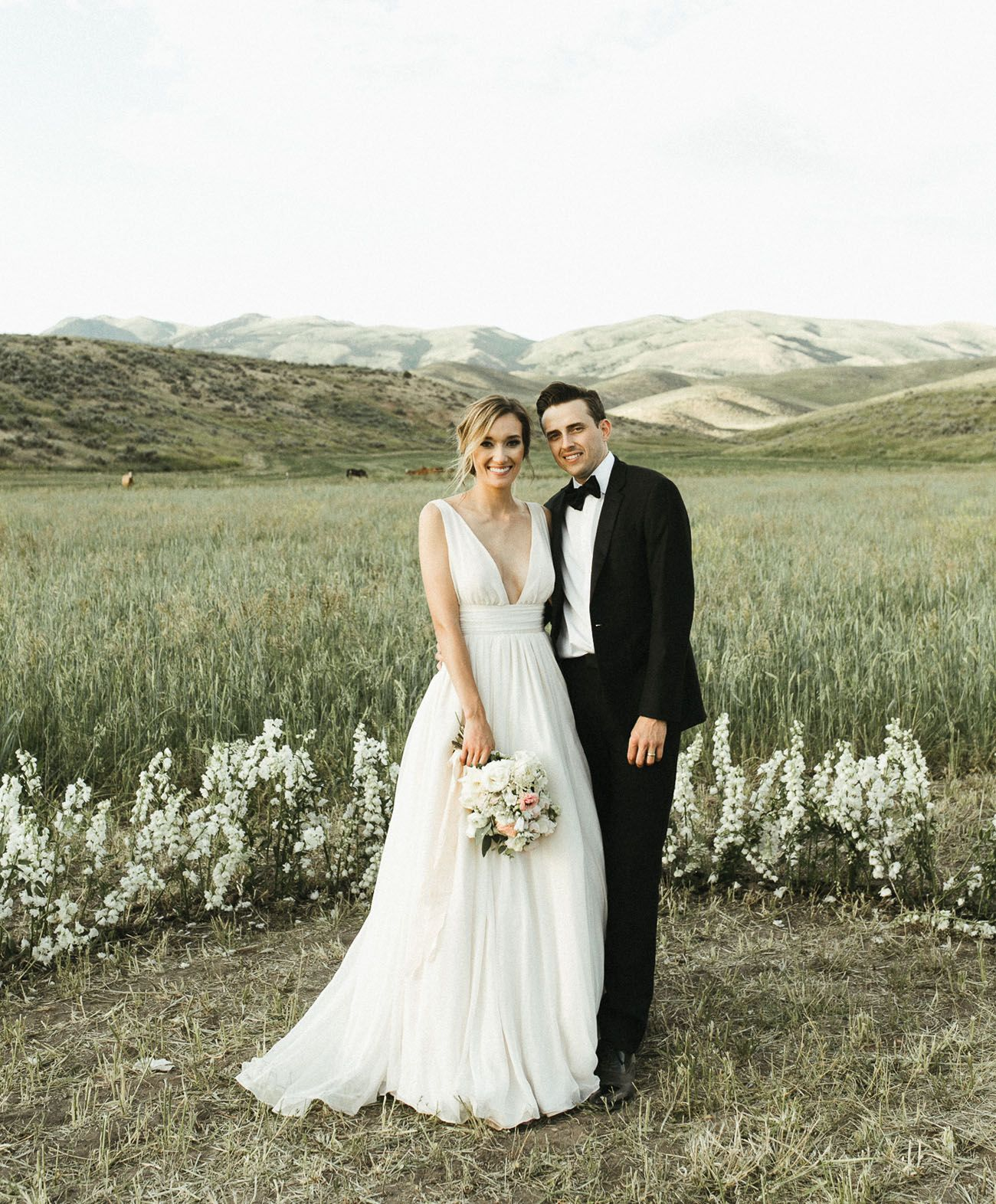 Out in the wilderness modern meets rustic wedding in idaho black
