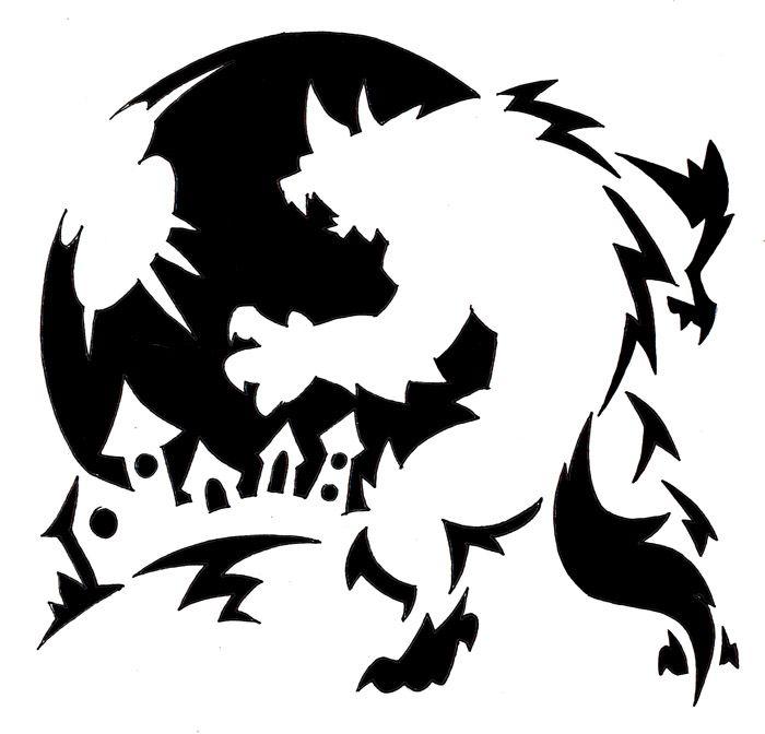Werewolf Carving Template By Darksilvania On Deviantart Halloween