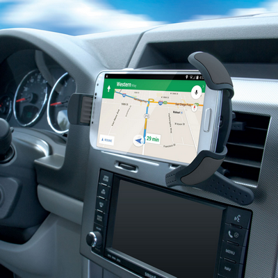 You're running late and need to follow your GPS app, but