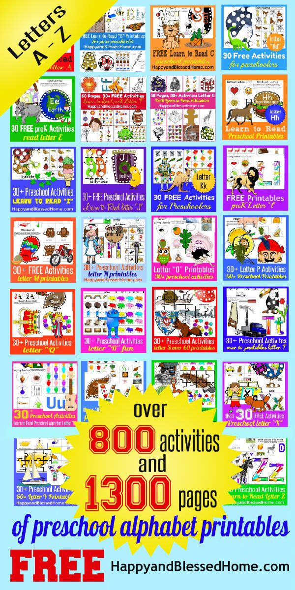 1300 Pages Alphabet Printable Letters And Activities Free