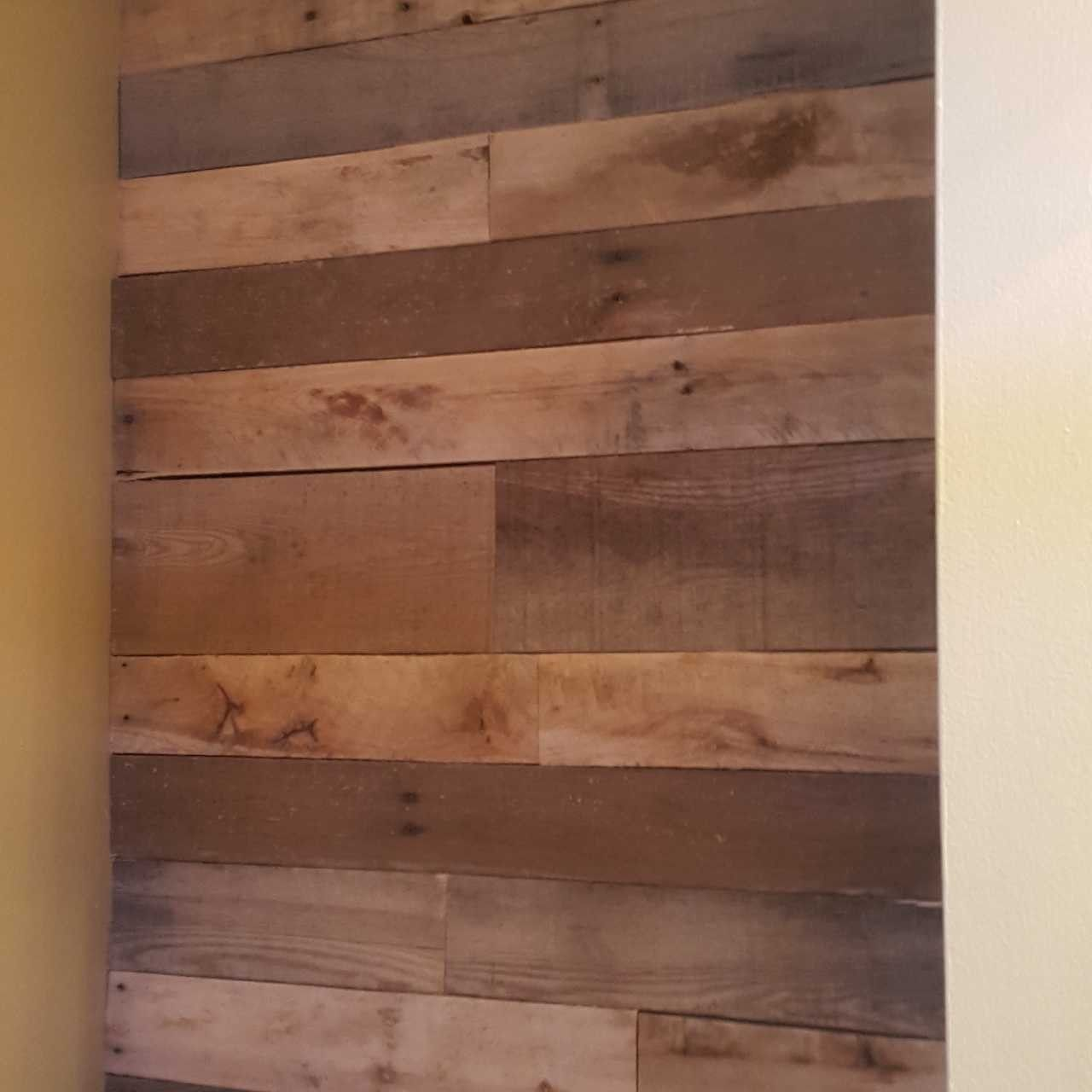 Accent Wall Good Or Bad: Our First Attempt At A Pallet Accent Wall! Not Too Bad