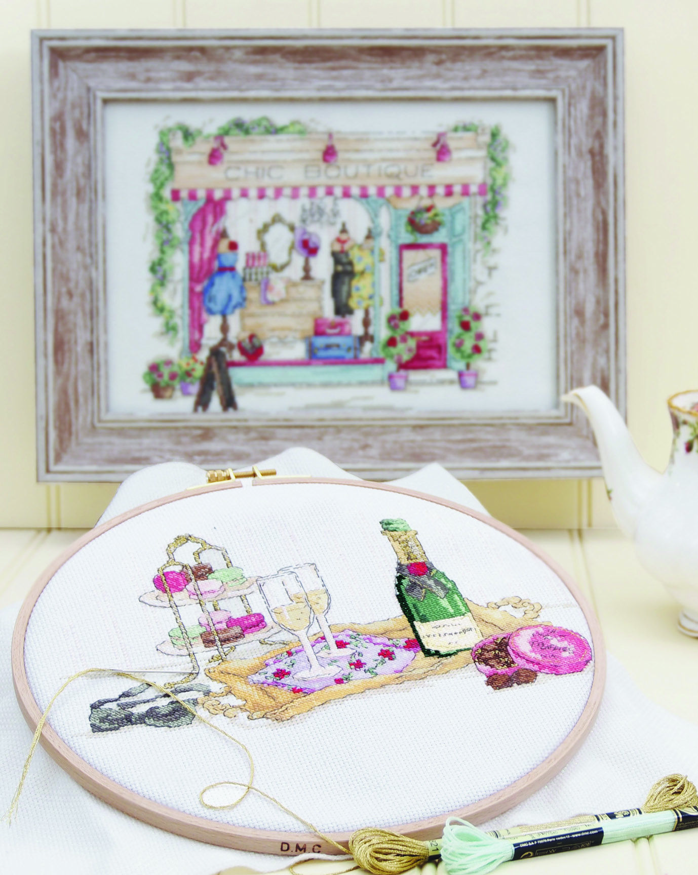 Vintage chic cross-stitch from DMC Creative in mother's day feature