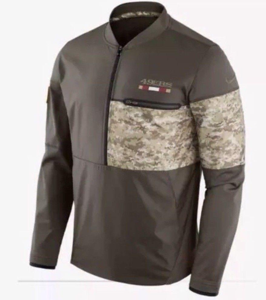 e24574d2c Nike NFL Salute to Service San Francisco 49ers Hybrid 1 2 Jacket 852972 325  2XL