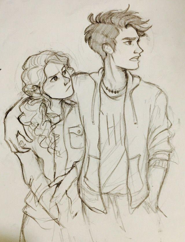 Percy Jackson Fan Art Percy Jackson Art Cute Couple Drawings